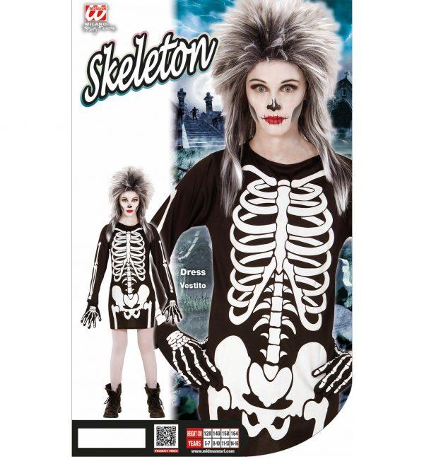 Costum Schelet Rochie Halloween Fetita