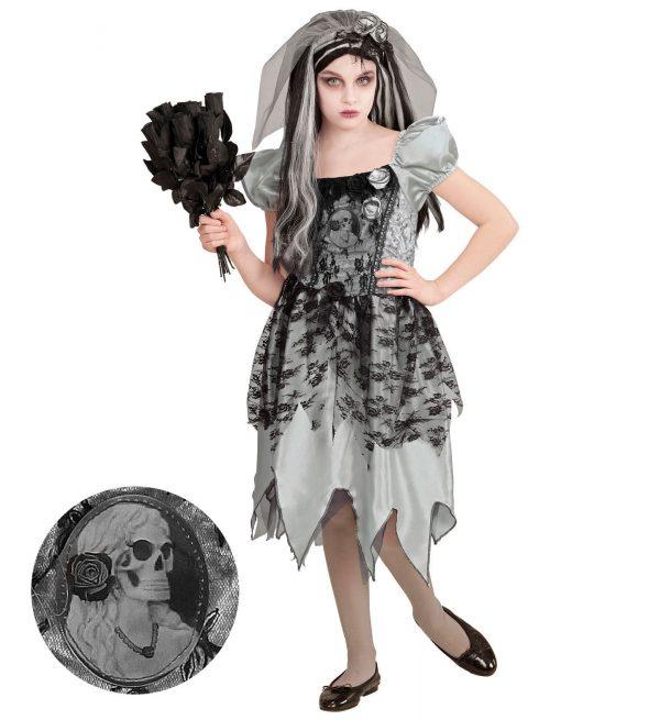 Costum Fantoma Mireasa Fetita