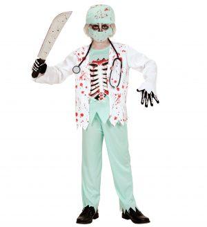 Costum Chirurg Alb Zombie Baiat