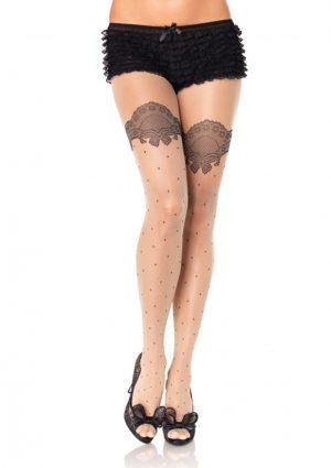 Ciorapi Bej Polka Dot
