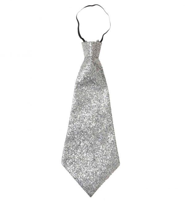 Cravata Disco Argintie