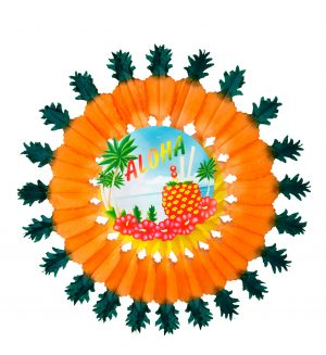 Decor Hawaii Floare Hartie