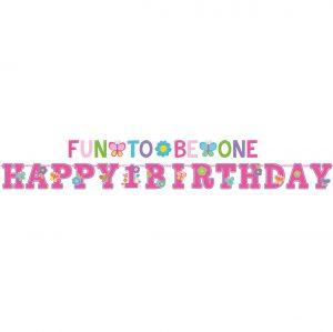 Bannere 1st Birthday Girl 2 Buc
