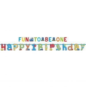 Bannere 1st Birthday Boy 2 Buc