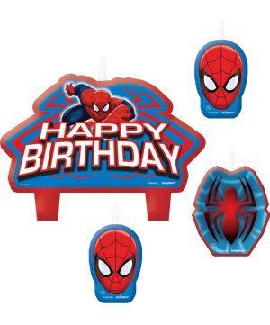 Lumanari Spiderman 4 Buc