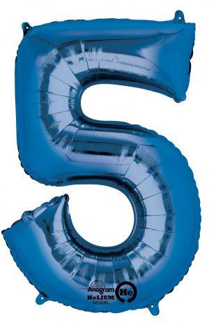 Balon Folie Cifra 5 Albastru
