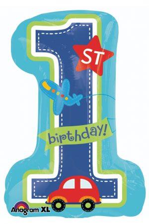 Balon 1st Birthday Boy SuperShape