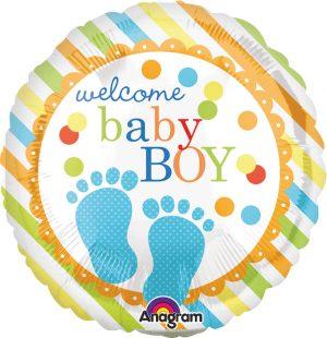 Balon Folie Welcome Baby Boy 45 Cm