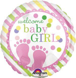 Balon Folie Welcome Baby Girl 45 Cm