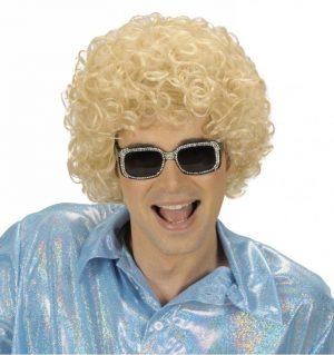 Peruca Afro Blonda Party