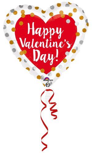 Balon Folie Happy Valentine's Day 45 cm