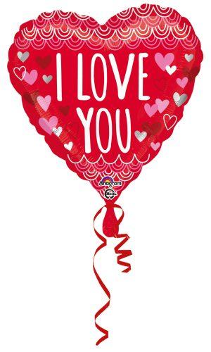Balon Folie Inima I Love You 45 cm