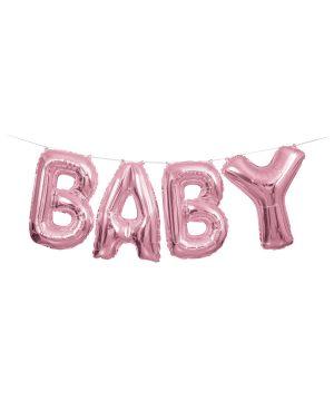 Baloane Folie Ghirlanda Baby Roz