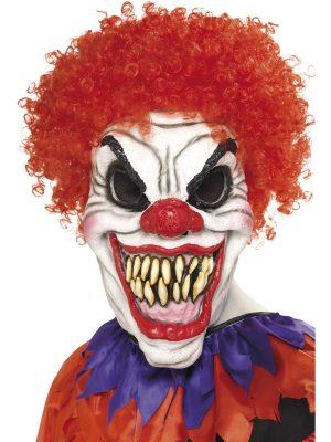 Masca Clown Diabolic Cu Peruca