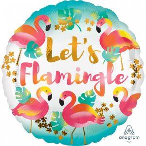 Balon Folie Let's Flamingle 43 cm