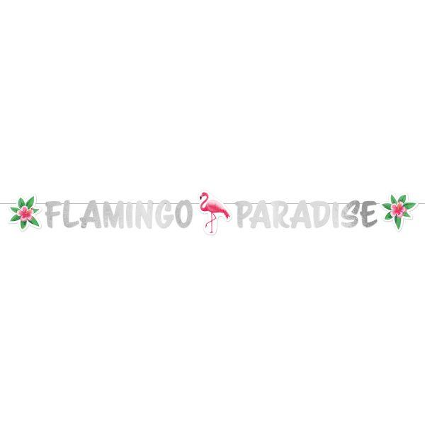 Banner Flamingo Paradise 135 cm