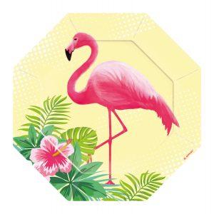 Farfurii Flamingo Petrecere 18 cm