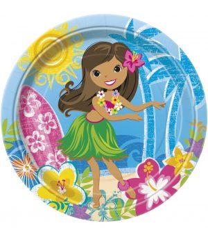 Farfurii Petrecere Hawaii 22 cm