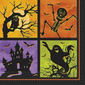 Servetele Halloween Casa Bantuita 20 Buc