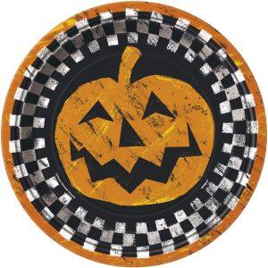 Farfurii Halloween Cadrilat 22,5 Cm