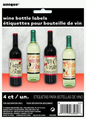 Etichete Sticle De Vin Vintage Halloween