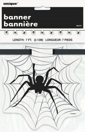 Banner Spider Halloween