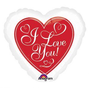 Balon Inima Folie Mesaj I Love You